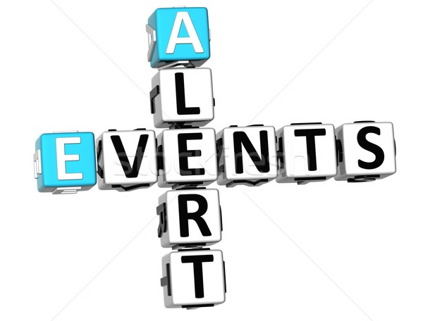 3D Events Alert Crossword Stock photo © Mariusz_Prusaczyk