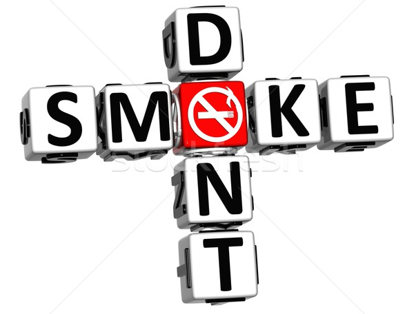 3D Dont Smoke Crossword Stock photo © Mariusz_Prusaczyk