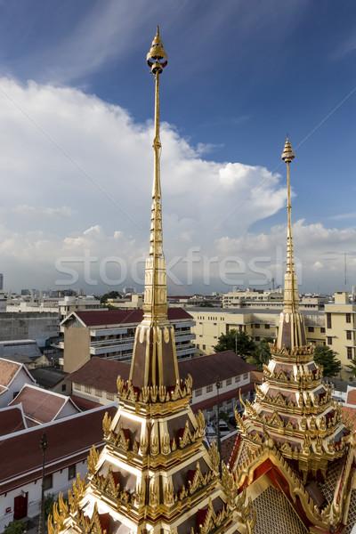 Stok fotoğraf: Metal · saray · Bangkok · Taylandlı · Tayland · mavi