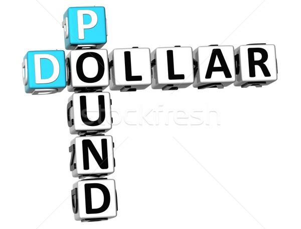 3D Dollar Pound Crossword Stock photo © Mariusz_Prusaczyk