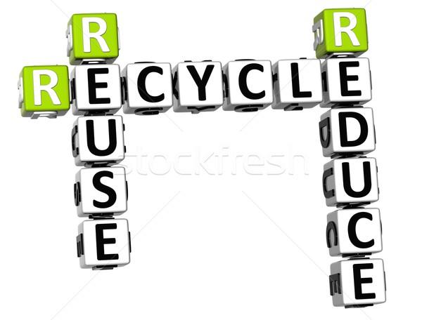 3D Reduce Reuse Recycle Crossword Stock photo © Mariusz_Prusaczyk