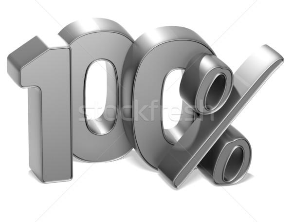 3D 100 Prozent weiß Business Geld Stock foto © Mariusz_Prusaczyk