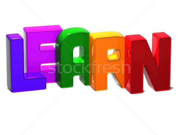 3D Word Learn on white background Stock photo © Mariusz_Prusaczyk