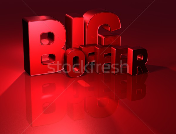 3D Word Big Offer on red background Stock photo © Mariusz_Prusaczyk