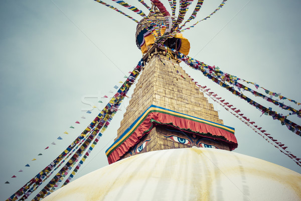 Boudhanath Stupa in the Kathmandu valley, Nepal Stock photo © Mariusz_Prusaczyk