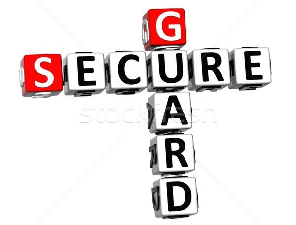 3D Secure Guard Crossword Stock photo © Mariusz_Prusaczyk