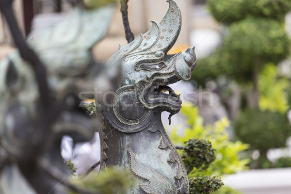 Lion Guardian at Wat Pho (Pho Temple) in Bangkok  Stock photo © Mariusz_Prusaczyk