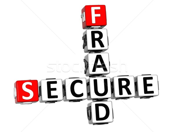 3D Secure Fruad Crossword Stock photo © Mariusz_Prusaczyk