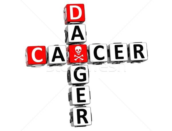 Stok fotoğraf: 3D · kanser · tehlike · bulmaca · beyaz · tıbbi