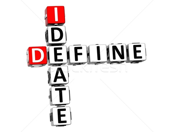 3D Define Ideate Crossword cube words Stock photo © Mariusz_Prusaczyk