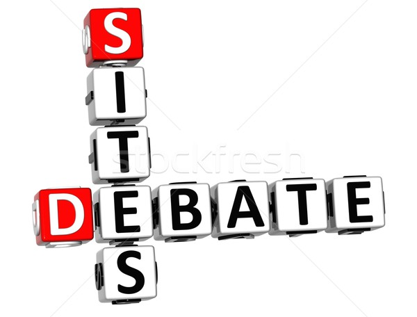 3D Debate Sites Crossword Stock photo © Mariusz_Prusaczyk