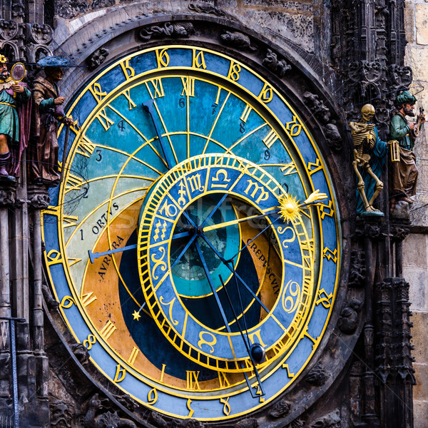 подробность Прага астрономический часы старый город солнце Сток-фото © Mariusz_Prusaczyk