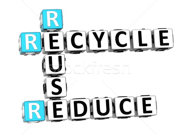 3D Reduce Reuse Recycle Crossword Stock photo © Mariusz_Prusaczyk