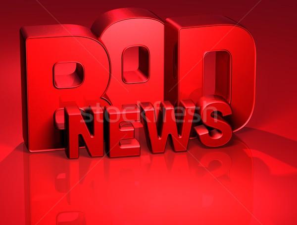 3D Word Bad News on red background Stock photo © Mariusz_Prusaczyk