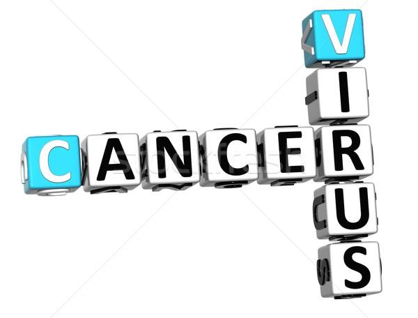 Stok fotoğraf: 3D · kanser · virüs · bulmaca · beyaz · tıbbi