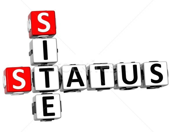 3D Status Site Crossword text Stock photo © Mariusz_Prusaczyk