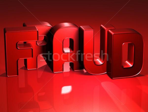 3D kelime dolandırıcılık kırmızı dizayn klavye Stok fotoğraf © Mariusz_Prusaczyk