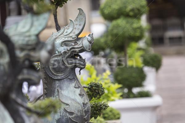 лев опекун храма Бангкок искусства путешествия Сток-фото © Mariusz_Prusaczyk