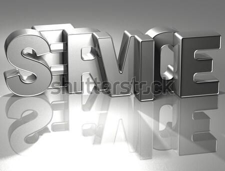 3D słowo sprzedaży zimą biały działalności Zdjęcia stock © Mariusz_Prusaczyk