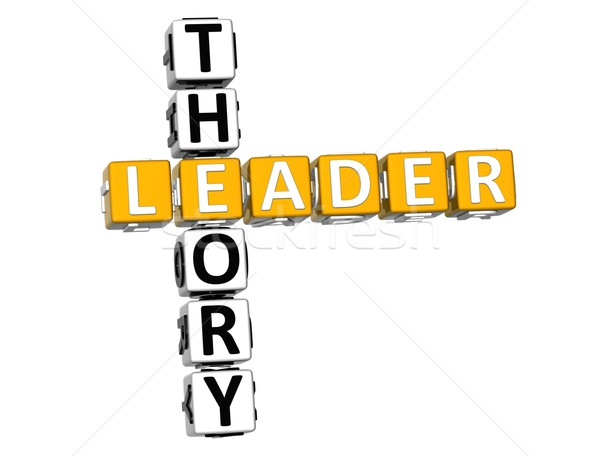 3D líder teoria palavras cruzadas branco trabalhar Foto stock © Mariusz_Prusaczyk