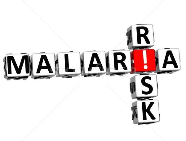 3D Malaria Risk Crossword text Stock photo © Mariusz_Prusaczyk