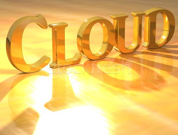 Stock photo: 3D Cloud Gold text
