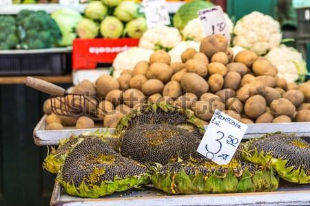 Tournesol semences vente marché Pologne Photo stock © Mariusz_Prusaczyk