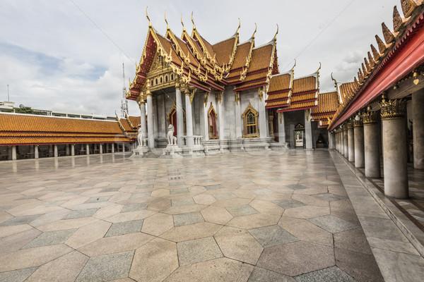 Márvány templom Bangkok Thaiföld égbolt tájkép Stock fotó © Mariusz_Prusaczyk