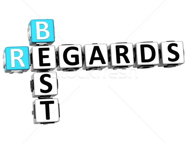 3D Best Regards Crossword Stock photo © Mariusz_Prusaczyk