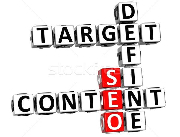 3D Define Target Content Crossword Stock photo © Mariusz_Prusaczyk