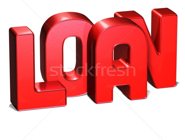 3D Word Loan on white background Stock photo © Mariusz_Prusaczyk