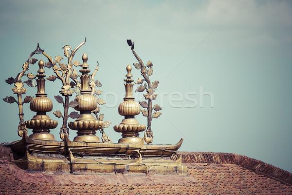 広場 ネパール 赤 アーキテクチャ 像 アジア ストックフォト © Mariusz_Prusaczyk