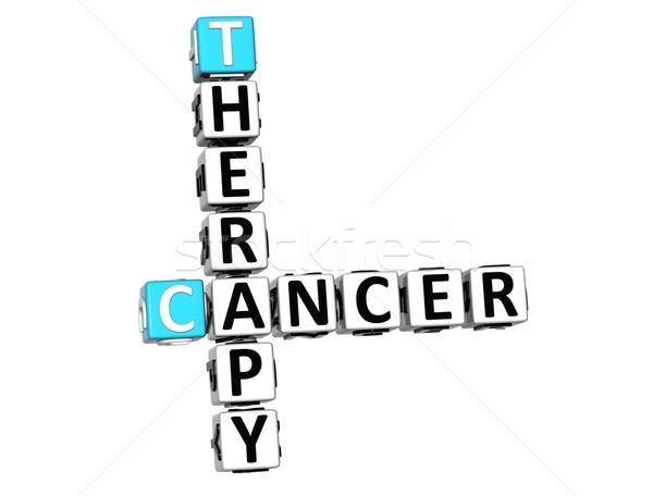 Stok fotoğraf: 3D · kanser · tedavi · bulmaca · beyaz · tıbbi