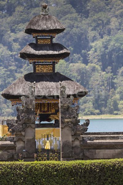 Famoso templo lago bali Indonesia paisaje Foto stock © Mariusz_Prusaczyk