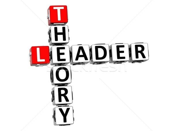 3D líder teoria palavras cruzadas branco negócio Foto stock © Mariusz_Prusaczyk