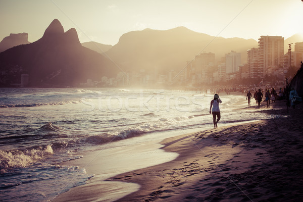 View of Ipanema Beach in the evening, Brazil  Stock photo © Mariusz_Prusaczyk