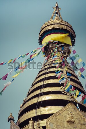 Stupa in Swayambhunath Monkey temple in Kathmandu, Nepal. Stock photo © Mariusz_Prusaczyk