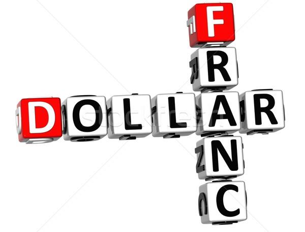 3D Dollar Franc Crossword Stock photo © Mariusz_Prusaczyk