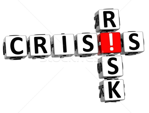 3D Crisis Risk Crossword Stock photo © Mariusz_Prusaczyk