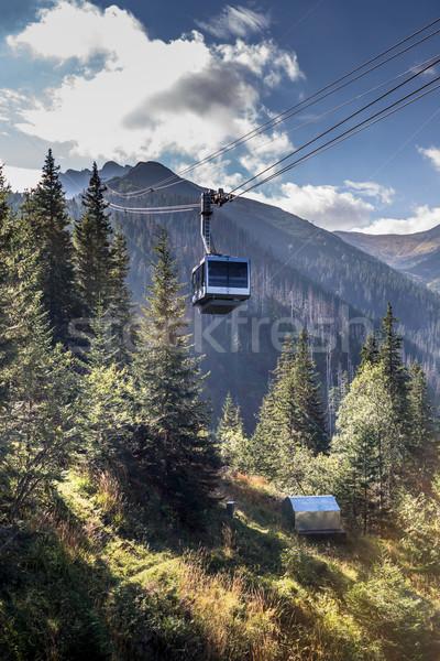 Kabel samochodu szczyt góry charakter górskich Zdjęcia stock © Mariusz_Prusaczyk