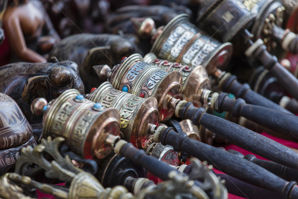 Nepalese Prayer Wheels on Swayambhunath stupa in Kathmandu, Nepa Stock photo © Mariusz_Prusaczyk