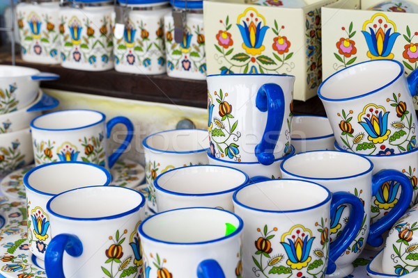 Colorful ceramics in traditonal polish market.  Stock photo © Mariusz_Prusaczyk