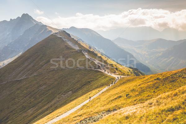 パス 急 サイド 山 表示 国境 ストックフォト © Mariusz_Prusaczyk