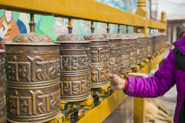 Buddhist prayer wheels, Kathmandu, Nepal. Stock photo © Mariusz_Prusaczyk