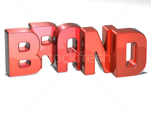 3D parola marca bianco colore marketing Foto d'archivio © Mariusz_Prusaczyk