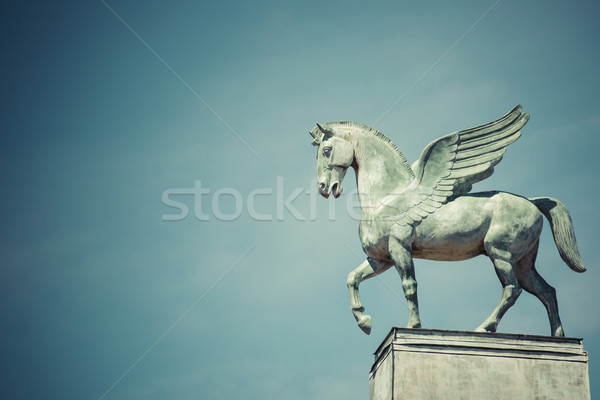 statue of pegasus on the roof of opera in poznan poland Stock photo © Mariusz_Prusaczyk