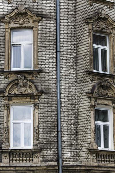Traditionellen Häuser Krakau Polen Himmel Fenster Stock foto © Mariusz_Prusaczyk