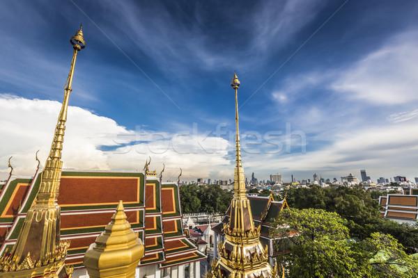 Metal pałac tajska niebieski zamek kultu Zdjęcia stock © Mariusz_Prusaczyk