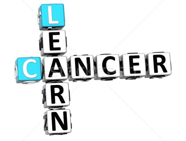Stok fotoğraf: 3D · kanser · öğrenmek · bulmaca · beyaz · tıbbi