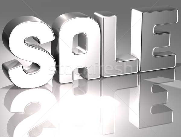3D słowo sprzedaży biały działalności ceny Zdjęcia stock © Mariusz_Prusaczyk
